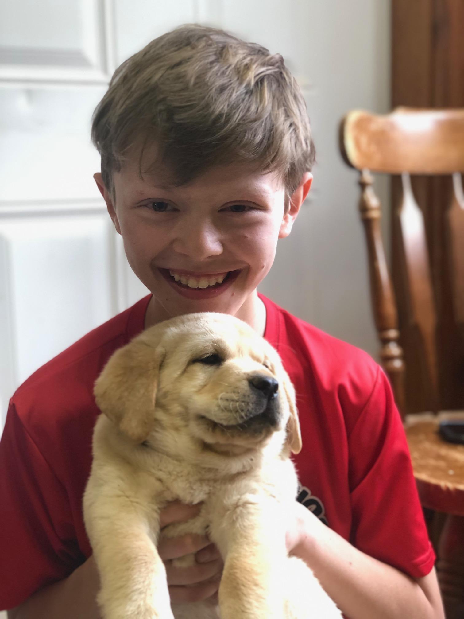 kid w puppy